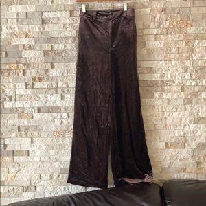 Forever 21 contemporary velvet trousers